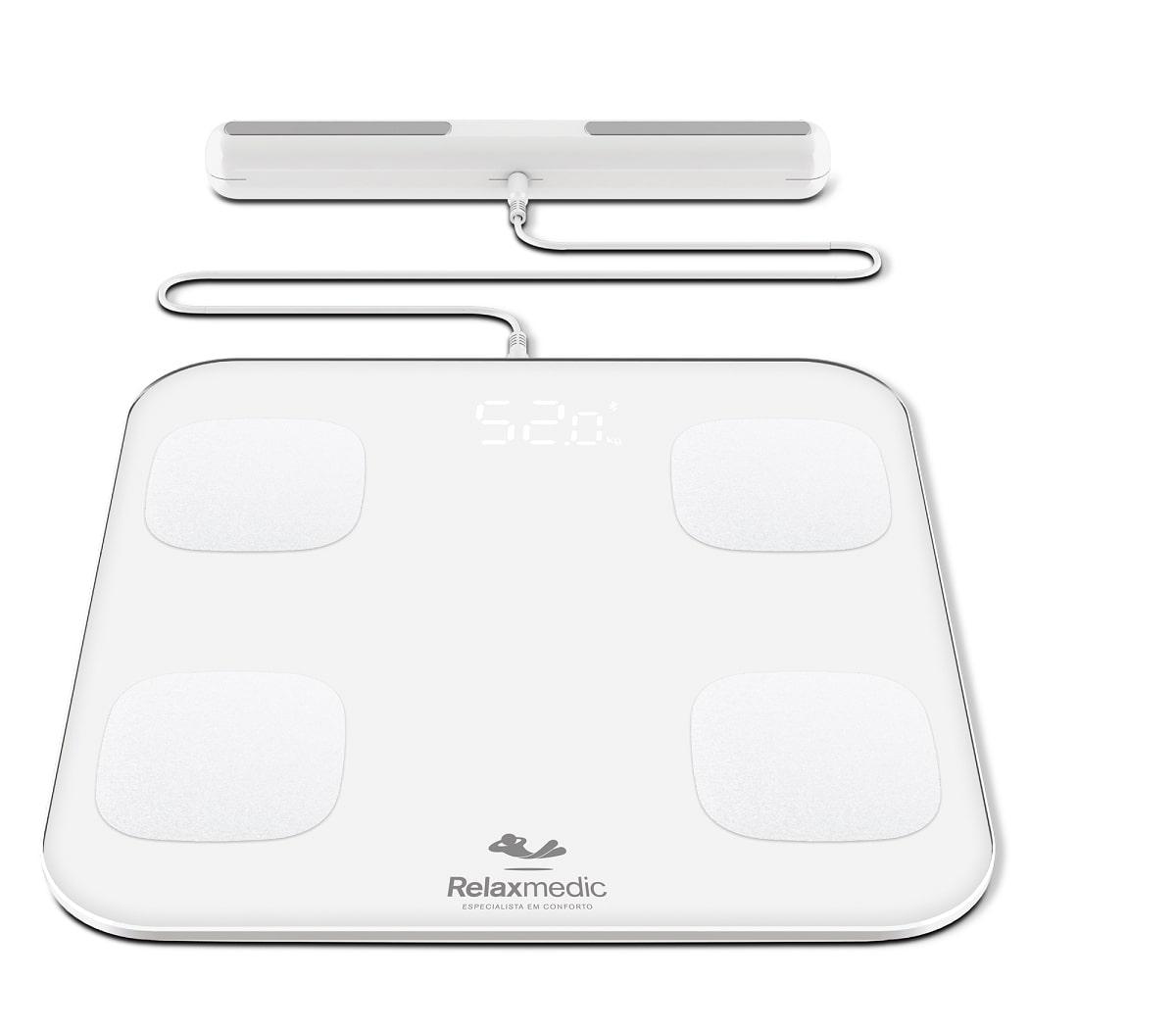 Balança de Bioimpedância Digital App Relaxmedic