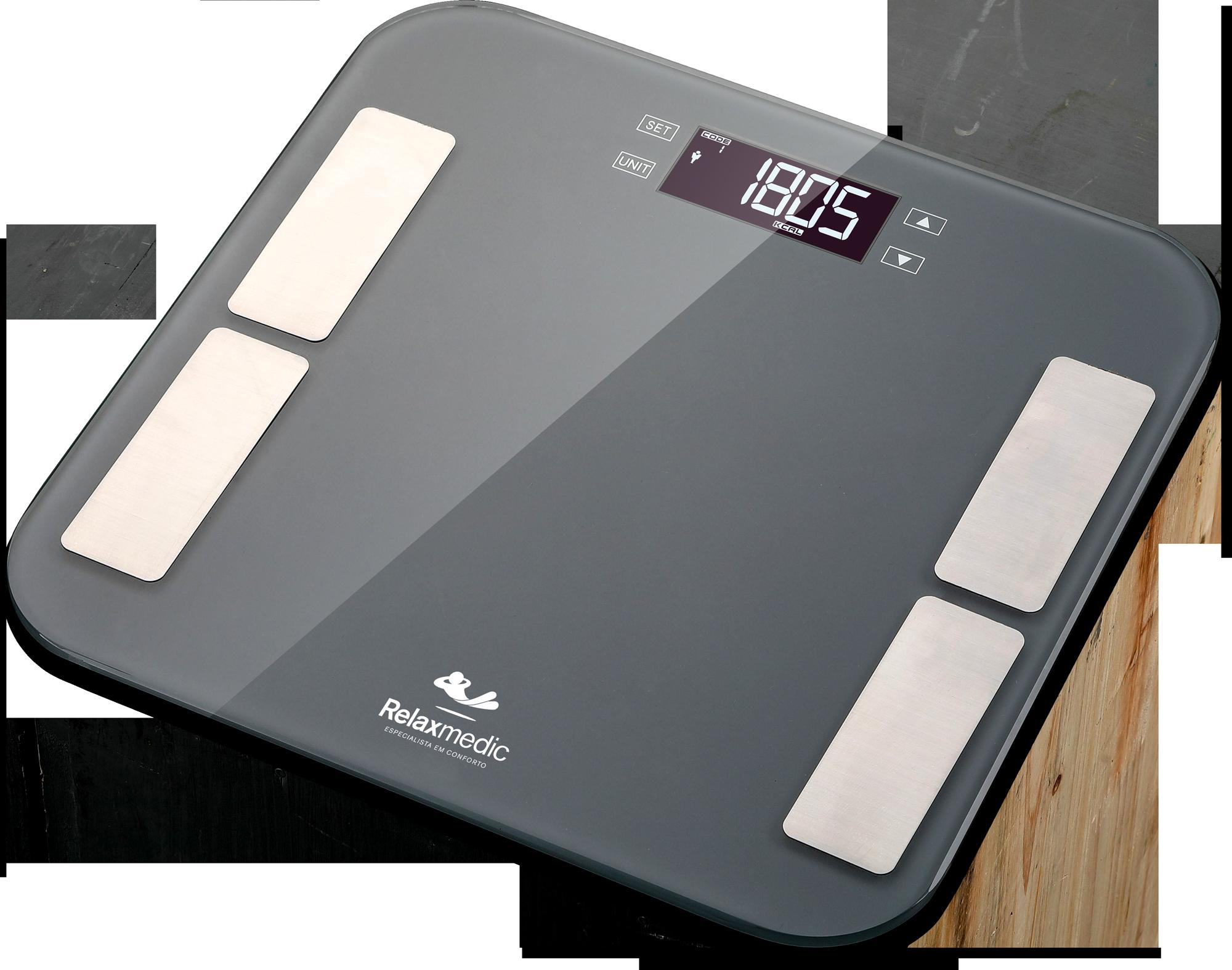Balança Corporal Digital Bioimpedância Banheiro Relaxmedic