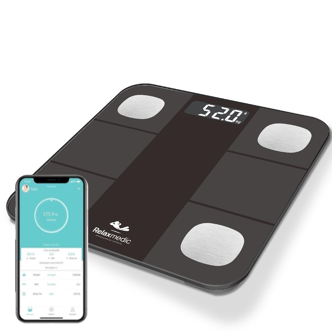 Balança Digital Bioimpedância c/ Aplicativo Bluetooth